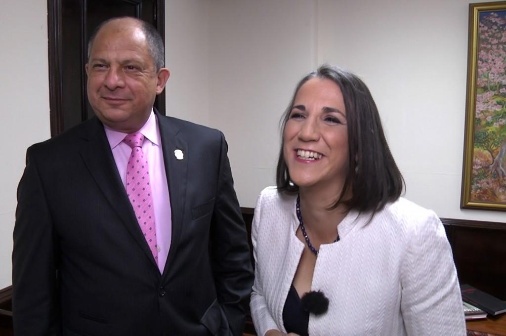 Presidente y Primera Dama de Costa Rica