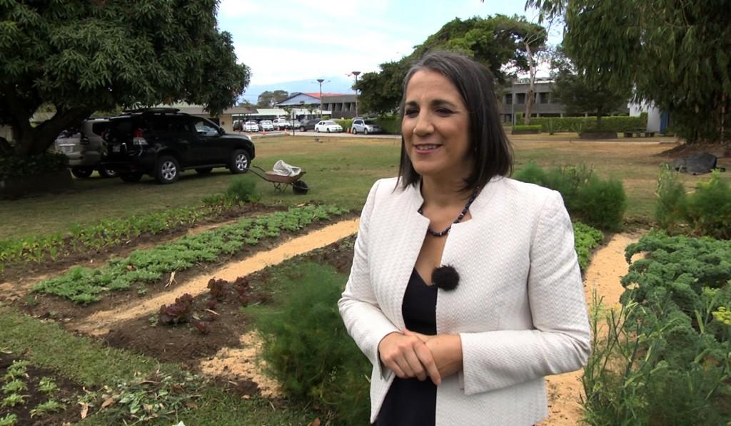 Primera Dama de Costa Rica en su casa